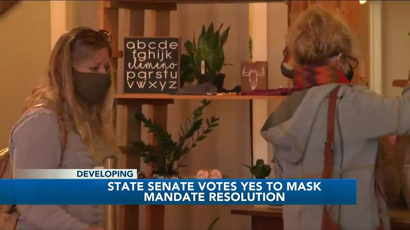 State Senate votes yes to mask mandate resolution