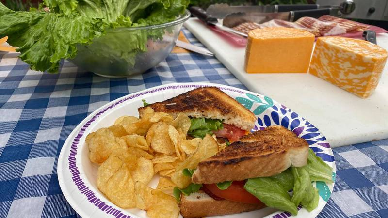 Grilled Cheese BLT and Parmesan Kettle Chips