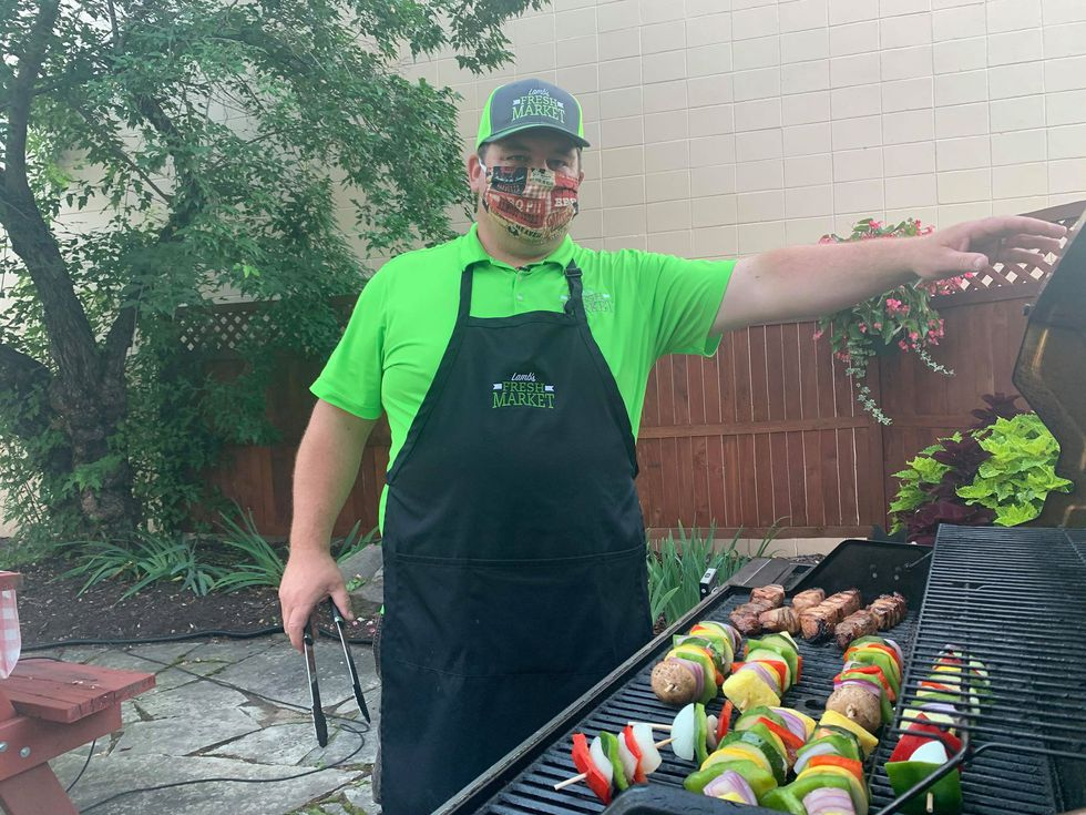 Grilling with Sunrise 7: Lamb's Pineapple Pork Ribs on a Stick