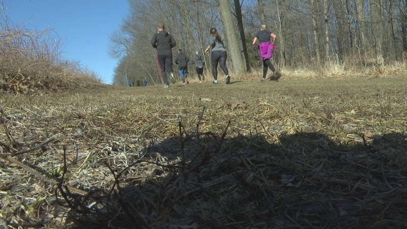 WausauUltra runners train on Saturday morning near the Wausau East baseball and softball fields.