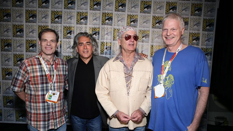 From left, Tom Ortenberg, CEO of Open Road Films, Mitch Glazer, Bill Murray and Steve Bing seen...