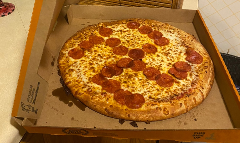 Misty Laska and her husband, Jason, bought a pizza from a Little Caesars in Brook Park, Ohio, that had pepperonis placed on top in such a manner so as to form a swastika.