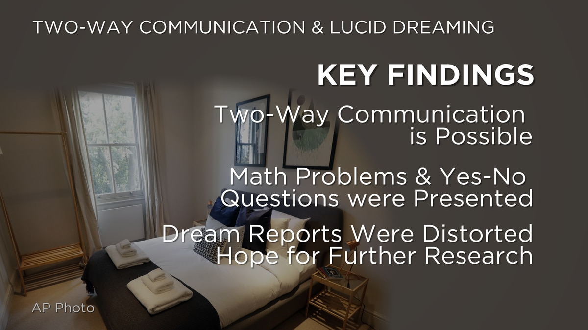 Key findings from the study showed that two-way communication is possible with some lucid...
