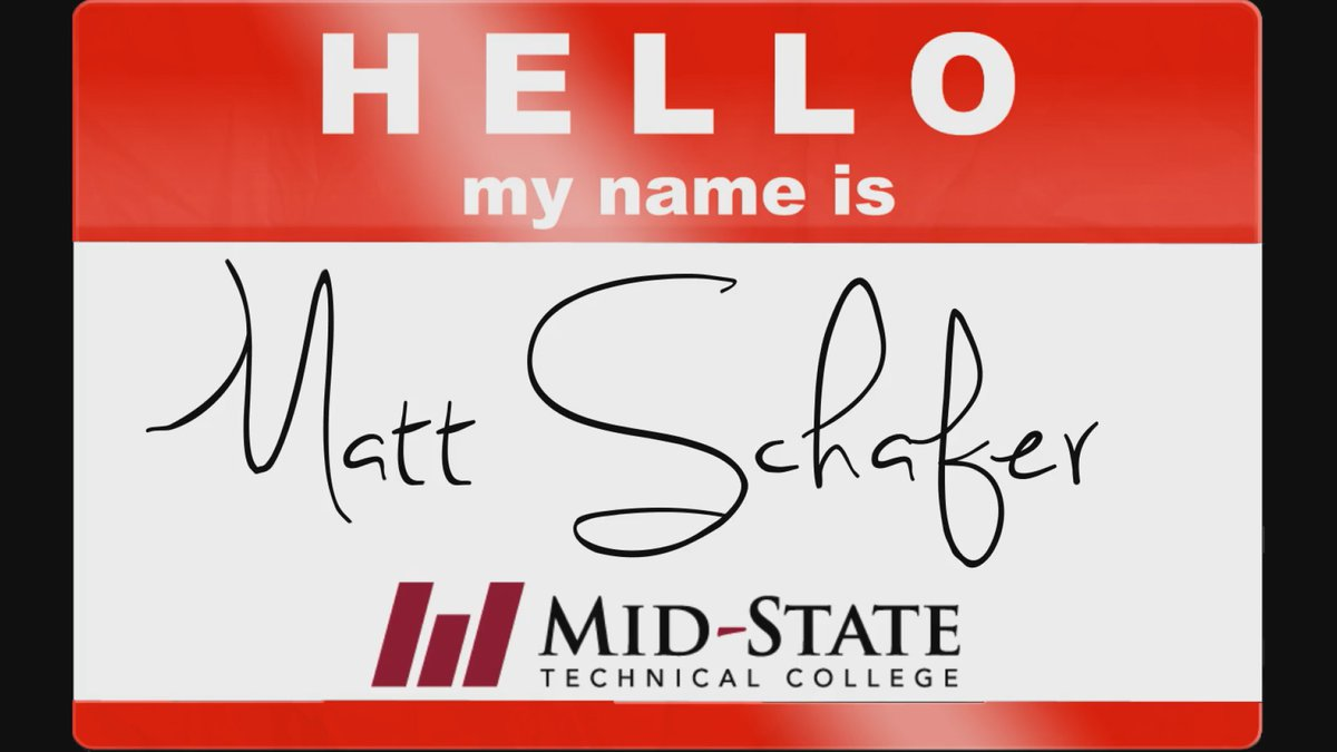 Hello, My Name Is tag for Matt Schafer made on October 21, 2019.