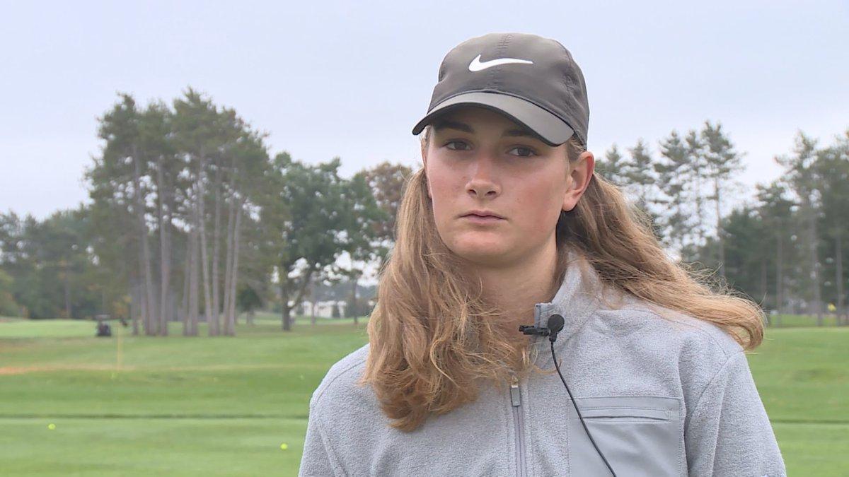 SPASH junior golfer Riley Pechinski on October 7, 2021.