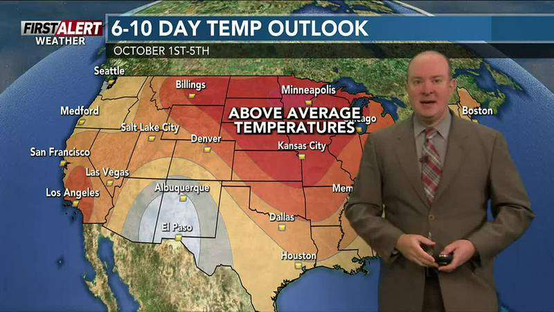 Warmer weather on tap to end the month of September.