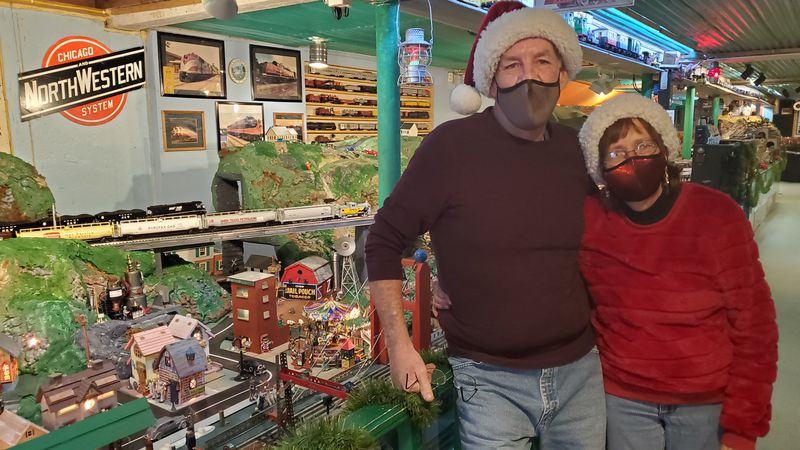Buck and Jan Guthrie have an amazing model train display but have closed their doors because of...