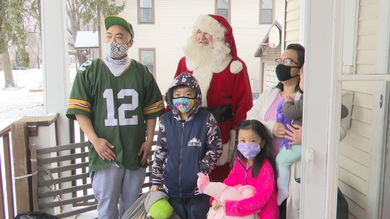 28 families, and 108 children received presents, clothes and food for Christmas.