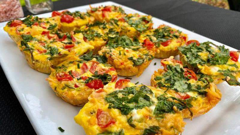 Egg and Veggie Hash brown Cups