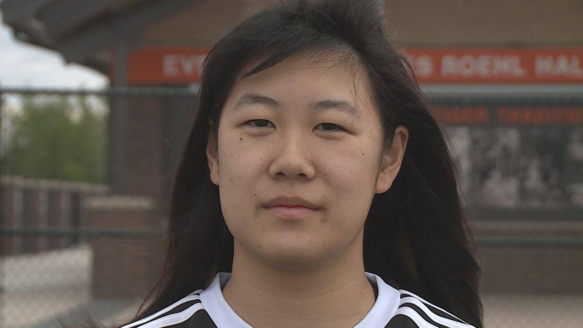 Nina Hashimoto at Marshfield High School on May 23, 2020. (WSAW)