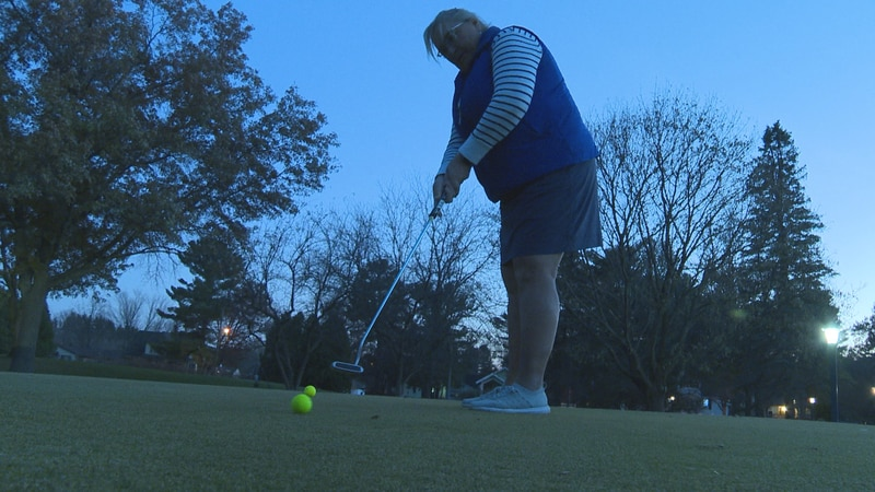 Golfing in November in Wausau .