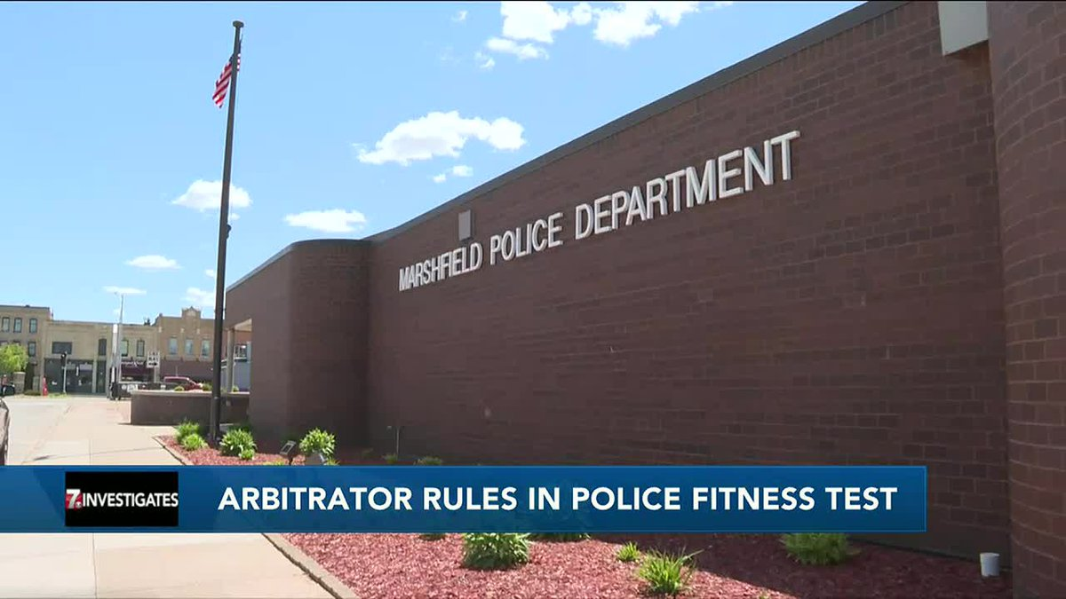 State arbitrator rules Marshfield officer will not get job back after failing fitness test