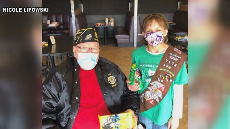 Local Girl Scout credits local veterans for successful cookie sale season