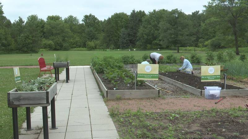 The Kitchen Garden with the event grounds behind it