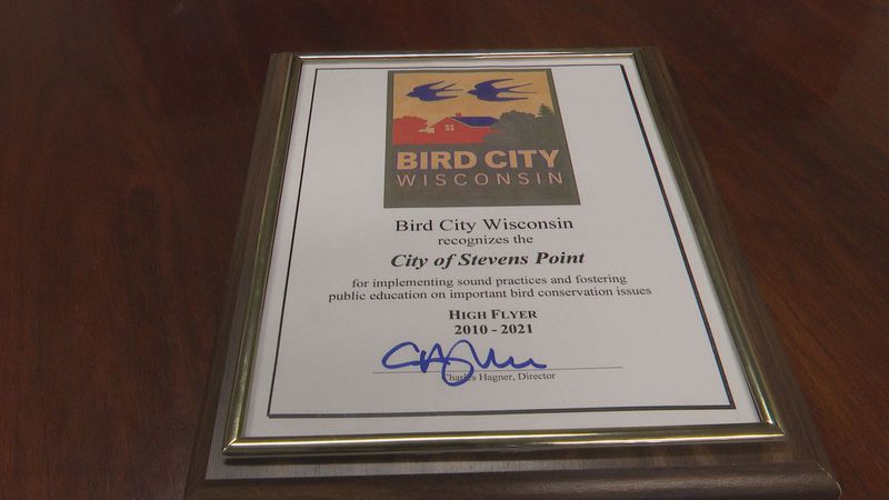 Stevens Point receives Bird City award