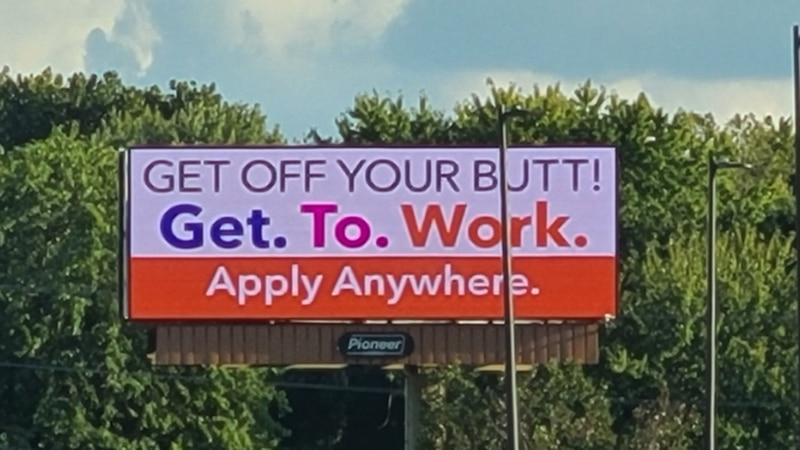 """You might call it a sarcastic """"Help Wanted"""" sign...but a group of Springfield businesses have..."""