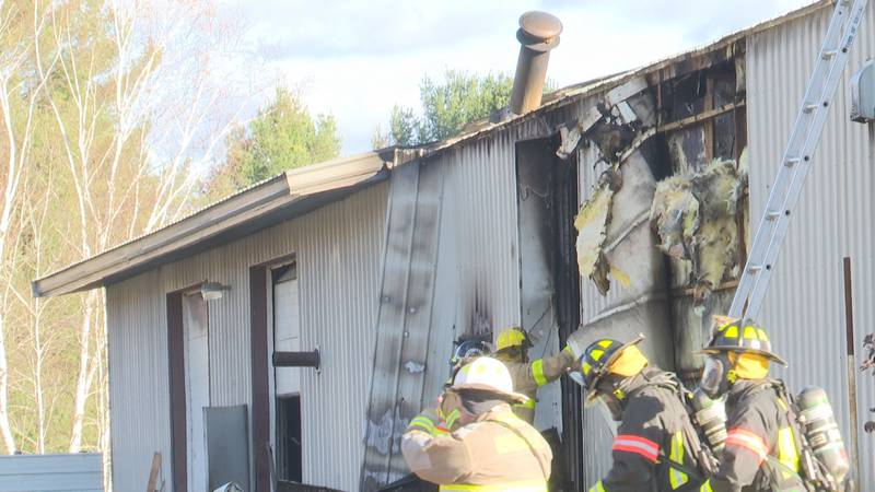 No one was injured in a fire at a Ringle auto shop October 25.