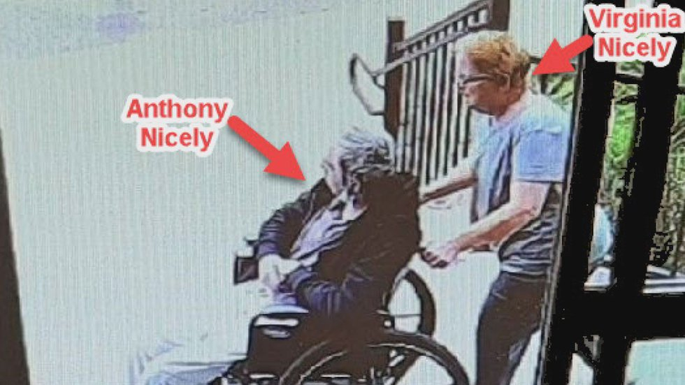 This image provided by the Price County Sheriff's Office shows Anthony Nicely being wheeled...