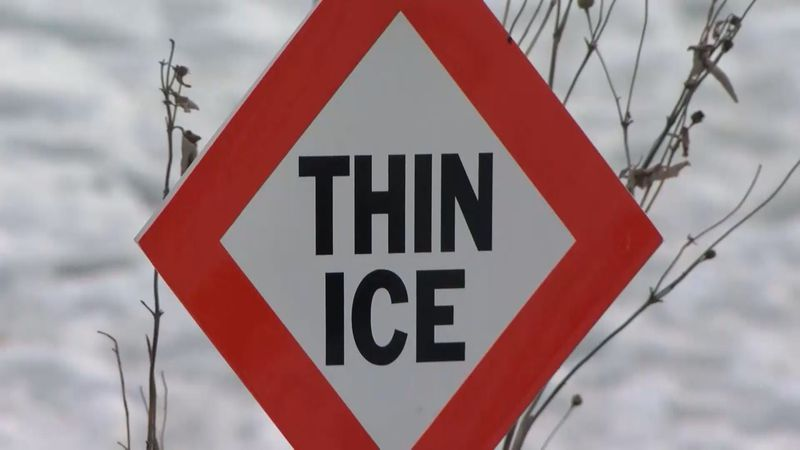 The DNR said this year, the ice hasn't been able to get thick, and expects it to get even...