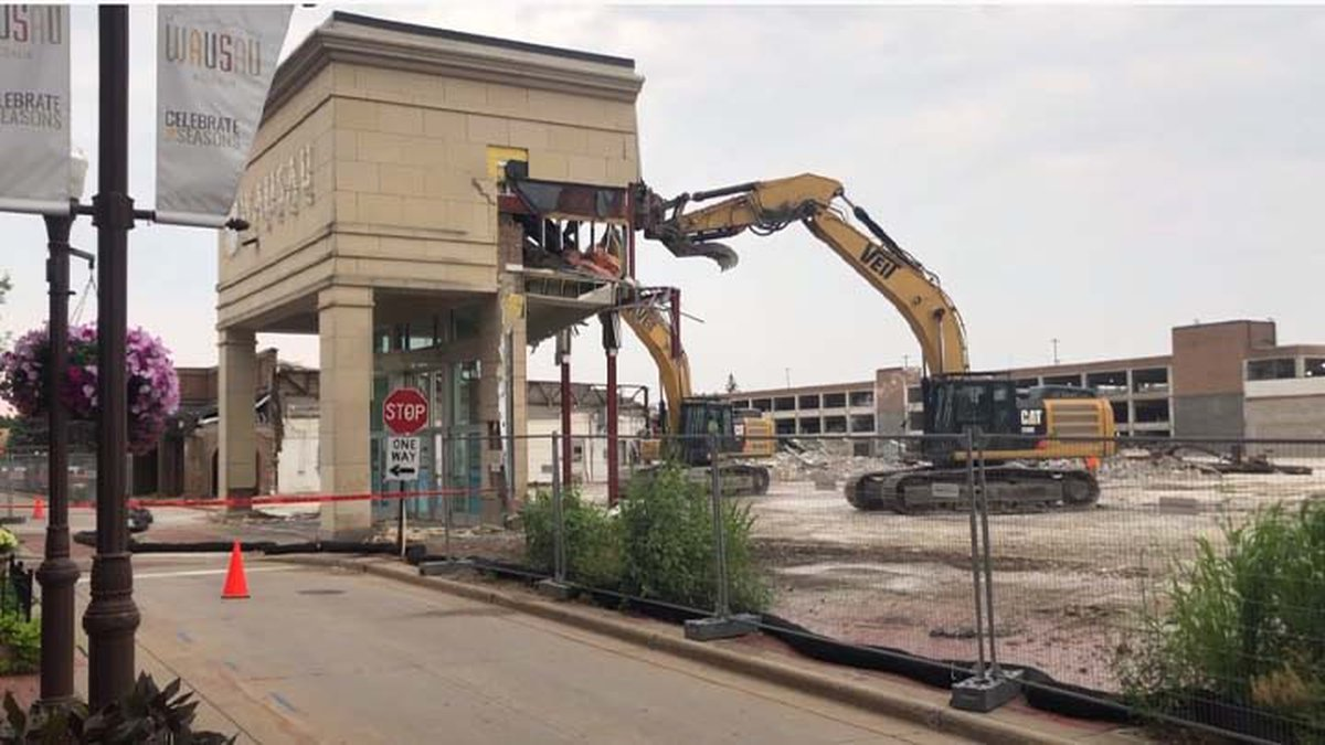 Site of Wausau Center Mall on July 21, 2021