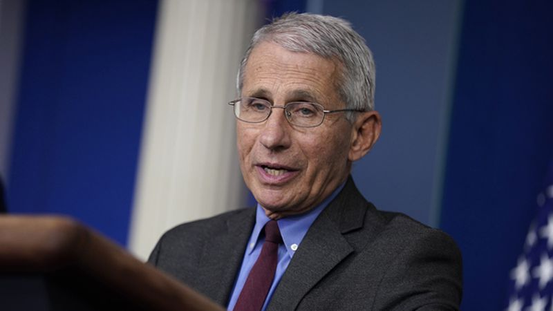 Director of the National Institute of Allergy and Infectious Diseases Dr. Anthony Fauci speaks...