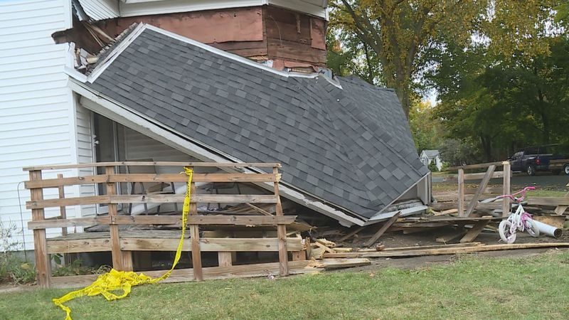 Two people are under arrest after a vehicle pursuit in Wausau lead to a car crashing into a home.