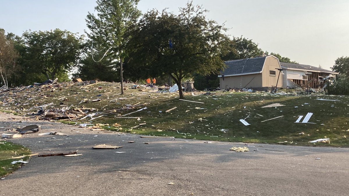 Scene of Jefferson County home explosion on July 27, 2021