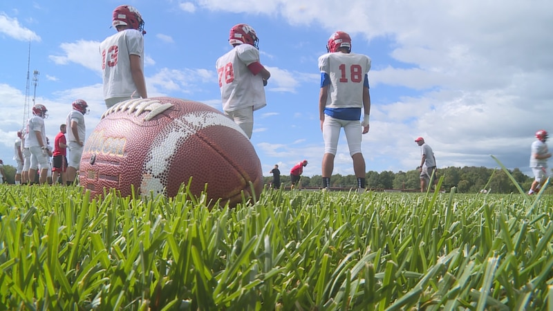 Wausau East practices ahead of their Friday home game against Newman Catholic.