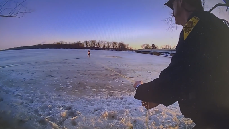 The Portage Police Dept. released body cam footage of a water rescue on Thursday, March 4,...