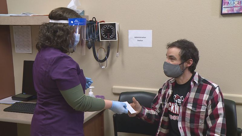 Wednesday, Aspirus is vaccinating some of its first teachers and staff from the Wausau School...