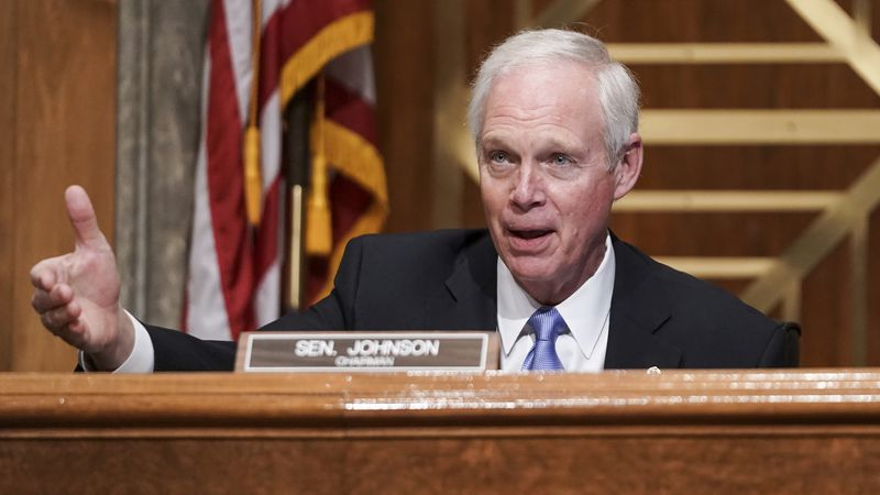 (FILE) Senate Homeland Security and Governmental Affairs Committee Chairman Ron Johnson,...