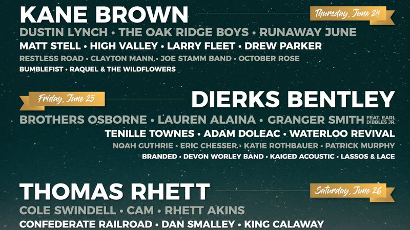 The Country Fest 2021 lineup has been released.