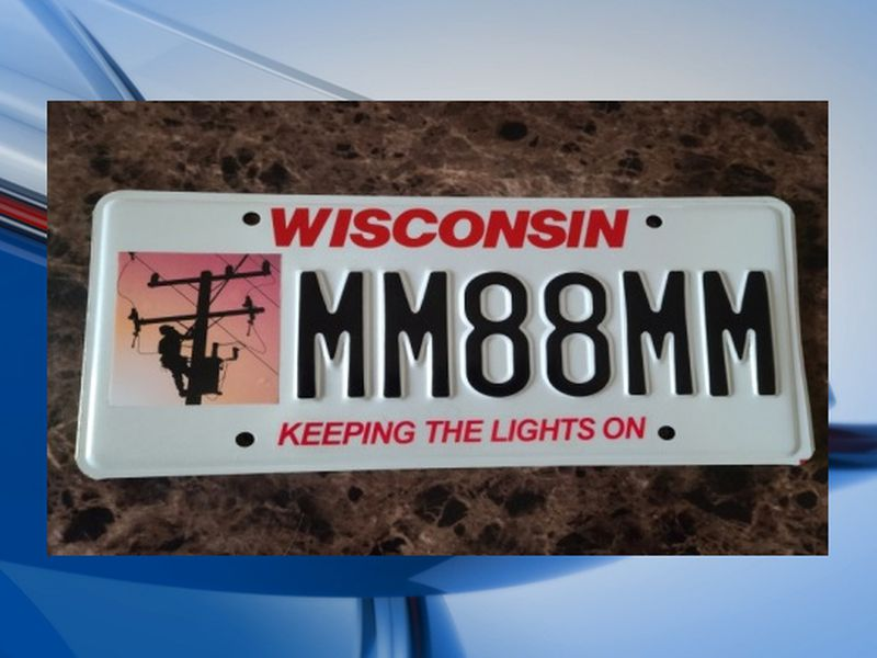 DMV plate honors utility workers