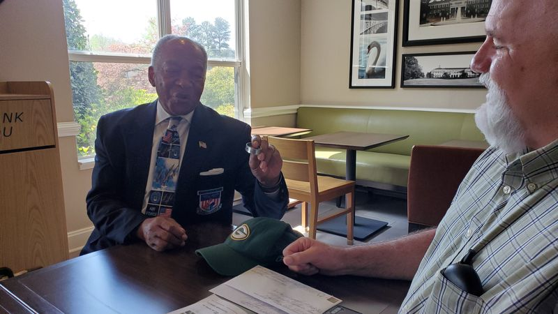 Karl Schrampfer drove from Wisconsin to North Carolina to meet Retired Col. Norman McDaniel and...