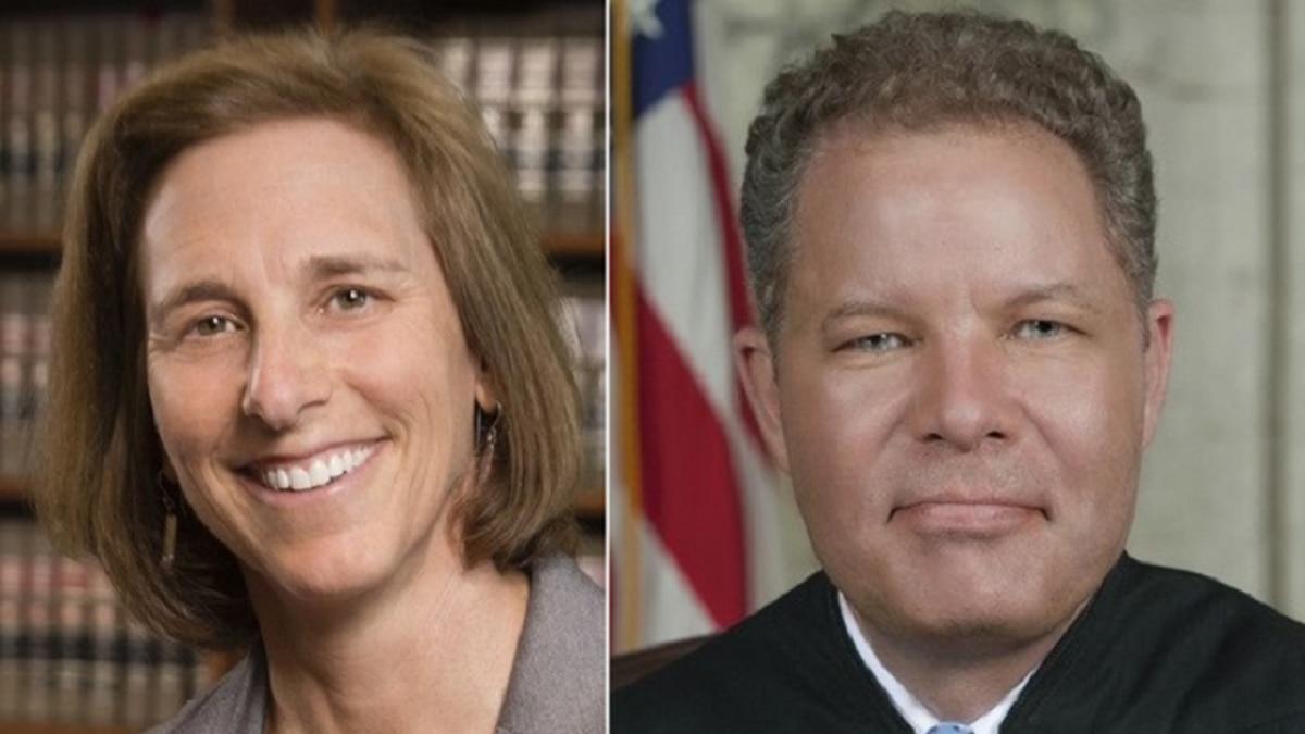 Dane County Judge Jill Karofsky and Wisconsin Supreme Court Justice Dan Kelly (Source: Dane...