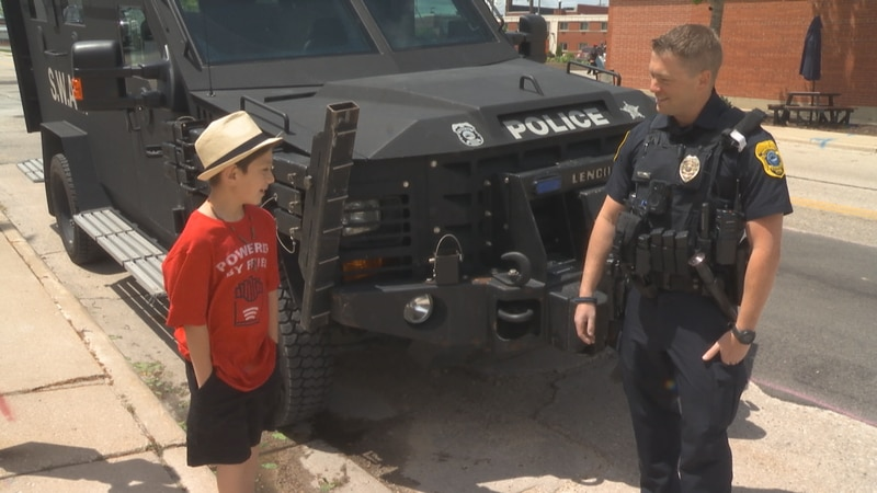 Young Isaiah Pena dreams of being on a SWAT team one day