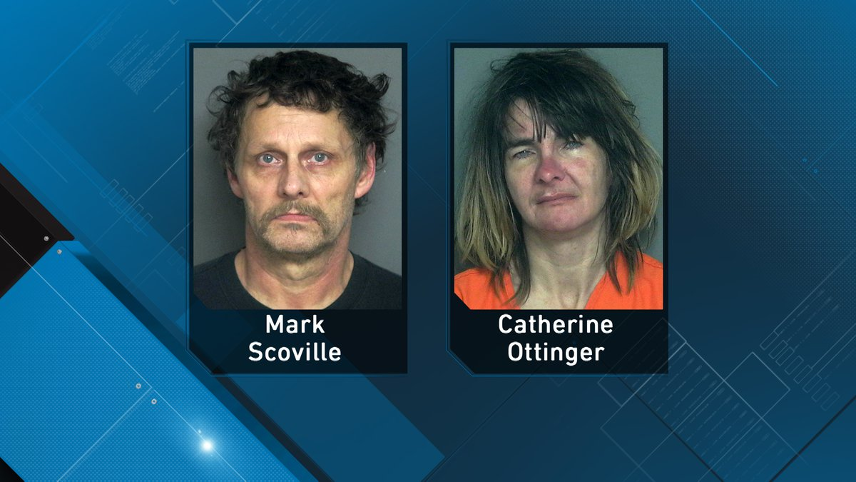 Mark Scoville and Catherine Ottinger were arrested Wednesday between Fairchild and Stanley by...