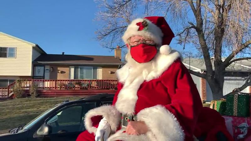 One Santa in Colorado isn't letting the pandemic stand in his way of spreading holiday cheer.