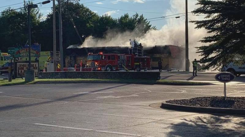 Crews in Vilas County responded to a structure fire at Stingrays Bar and Grill in Arbor Vitae...