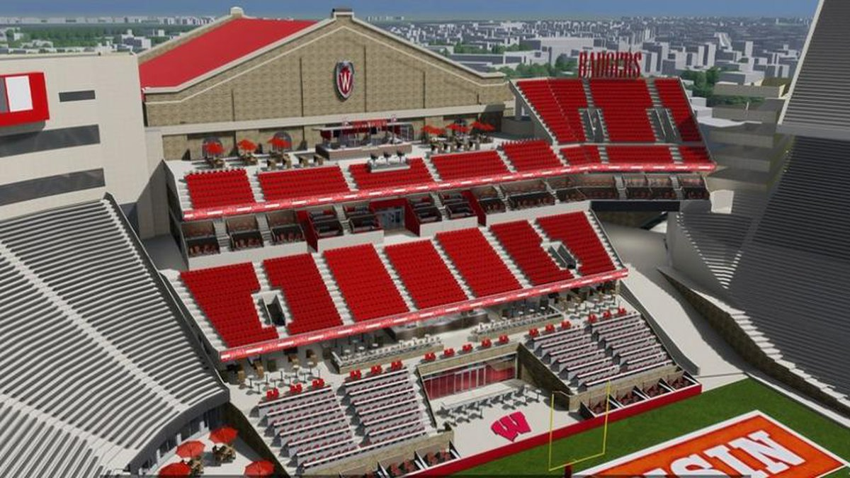 Conceptual rendering of the south end zone at Camp Randall. Once an architect is selected the...