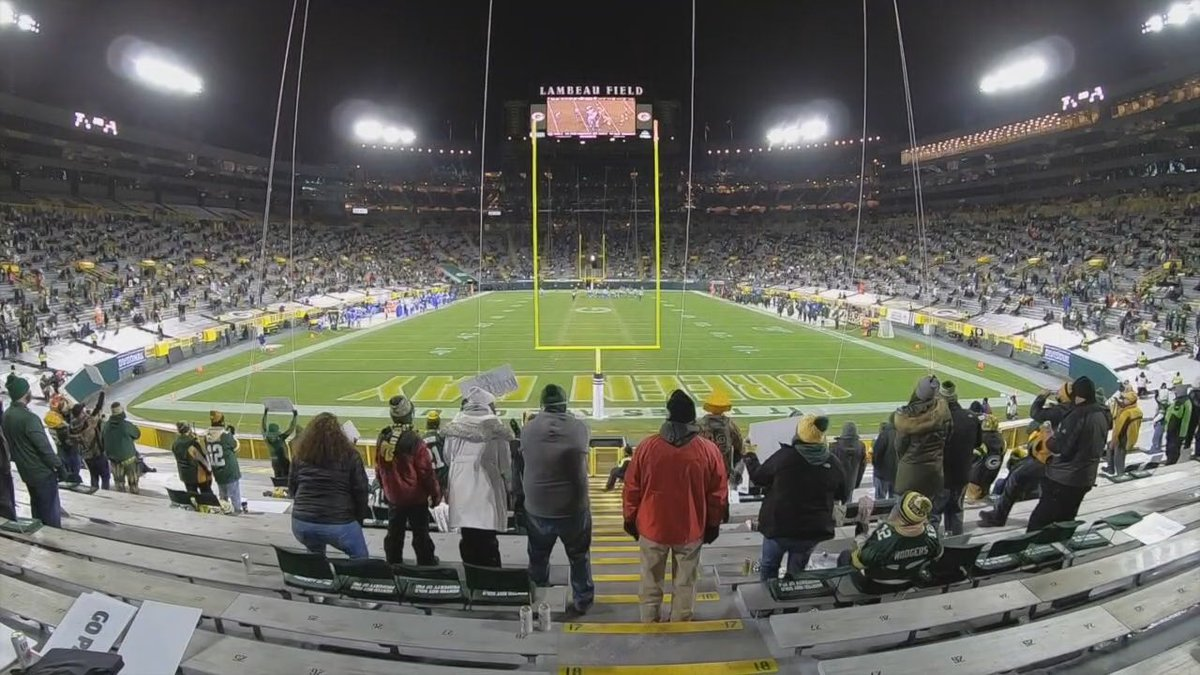 The pandemic is limiting capacity at Lambeau Field for the playoffs, and for those in...