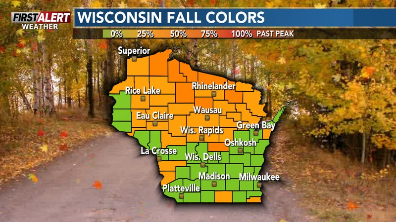 The autumn hues on the trees continue to expand in the region.