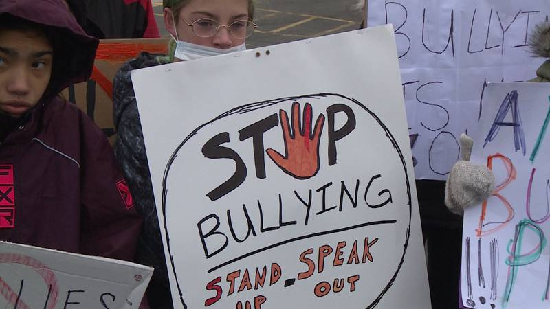Thorp students held a walkout and protest over the school district's handling of a recent...