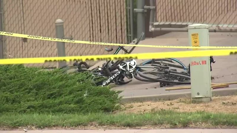 Police are investigating after a man drove into bicyclists at an annual event.