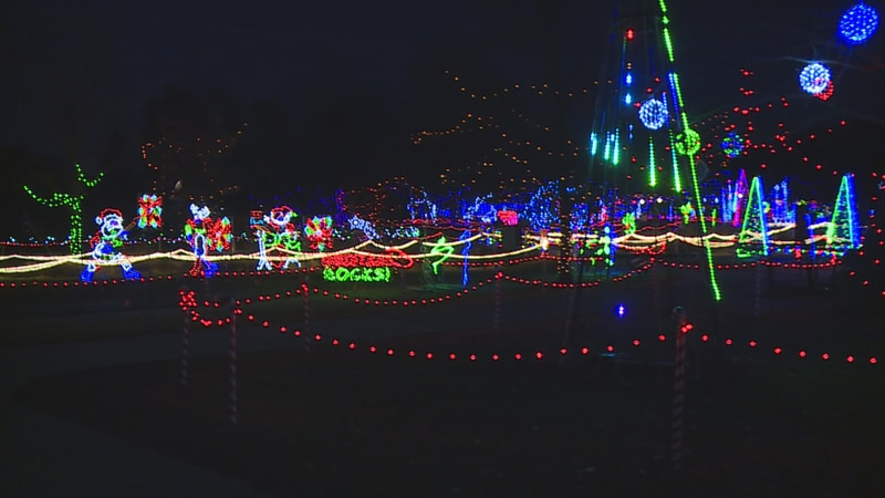 The display is said to have almost three million lights, according to volunteers.