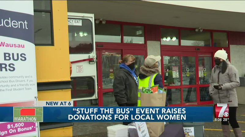 """Stuff The Bus"" Event Raises Donations For Local Women"