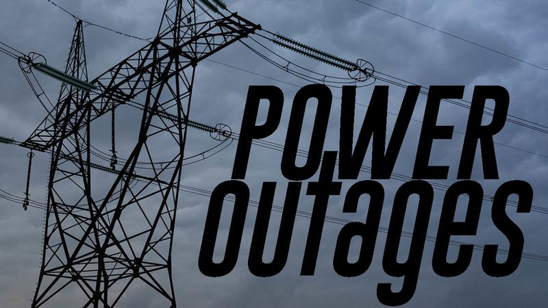 Power outages have been reported due to severe weather.