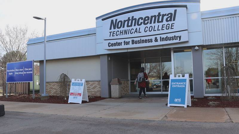 Marathon County's mass vaccination site officially opened at North Central Technical College's...
