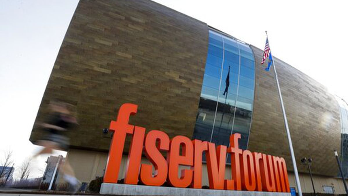 Fiserv Forum stands Thursday March 12, 2020, in Milwaukee. The NBA has suspended its season....