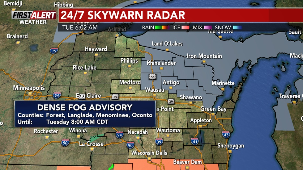 A dense fog advisory in effect this morning until 8:00 AM. However, treat this advisory as if...